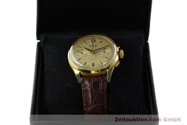 Used luxury watch Breitling Cadette chronograph 18 ct gold manual winding Kal. Venus 188 Ref. 1197  | 142006 07