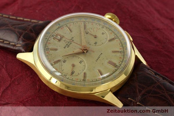 Used luxury watch Breitling Cadette chronograph 18 ct gold manual winding Kal. Venus 188 Ref. 1197  | 142006 13