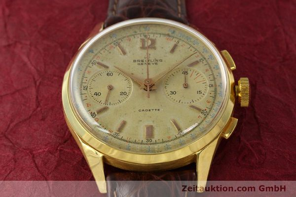 Used luxury watch Breitling Cadette chronograph 18 ct gold manual winding Kal. Venus 188 Ref. 1197  | 142006 14