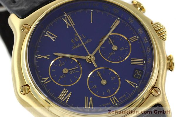 Used luxury watch Ebel 1911 chronograph 18 ct gold automatic Kal. 134 Ref. 64101989  | 142007 02