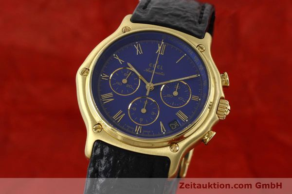 Used luxury watch Ebel 1911 chronograph 18 ct gold automatic Kal. 134 Ref. 64101989  | 142007 04