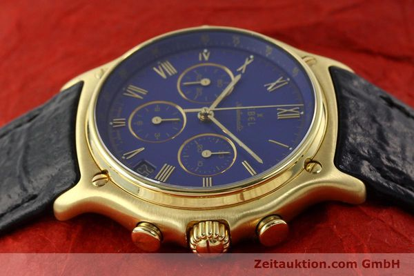 Used luxury watch Ebel 1911 chronograph 18 ct gold automatic Kal. 134 Ref. 64101989  | 142007 05