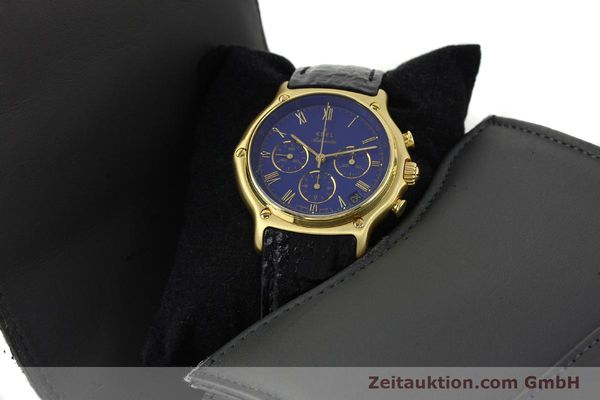 Used luxury watch Ebel 1911 chronograph 18 ct gold automatic Kal. 134 Ref. 64101989  | 142007 07