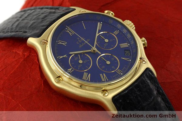 Used luxury watch Ebel 1911 chronograph 18 ct gold automatic Kal. 134 Ref. 64101989  | 142007 15