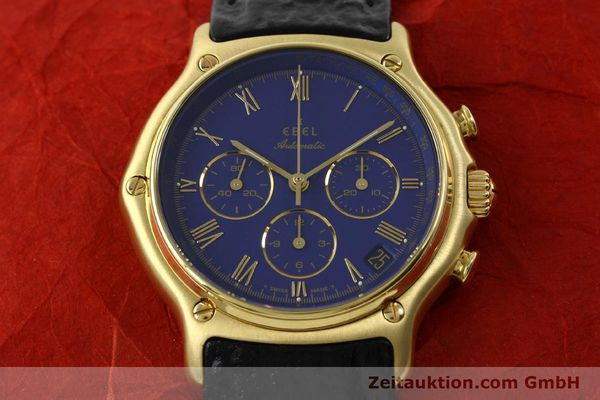 Used luxury watch Ebel 1911 chronograph 18 ct gold automatic Kal. 134 Ref. 64101989  | 142007 16