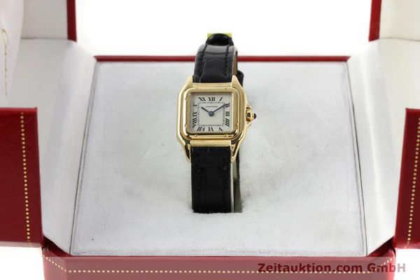 gebrauchte Luxusuhr Cartier Panthere 18k Gold Quarz Kal. 157  | 142011 07