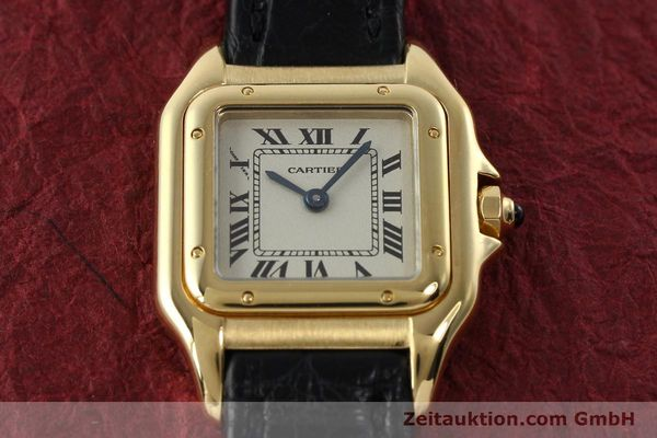 gebrauchte Luxusuhr Cartier Panthere 18k Gold Quarz Kal. 157  | 142011 15