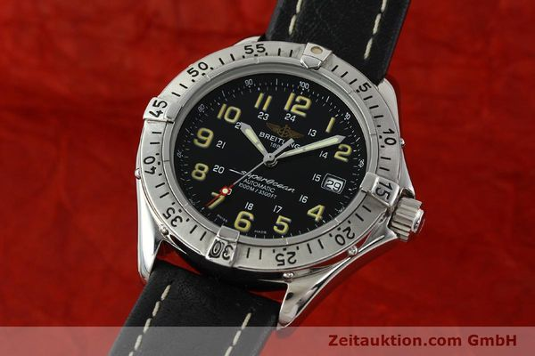 Used luxury watch Breitling Superocean steel automatic Kal. B17 ETA 2824-2 Ref. A17040  | 142018 04