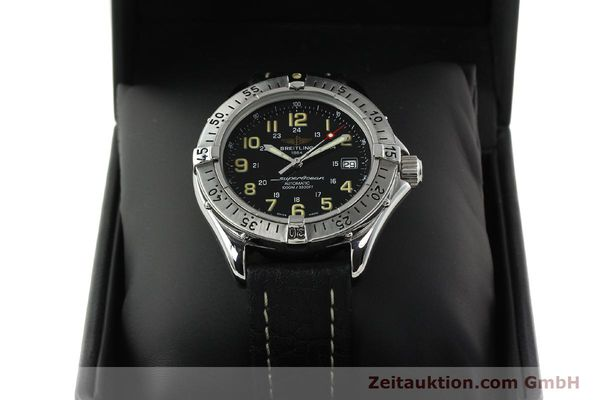 Used luxury watch Breitling Superocean steel automatic Kal. B17 ETA 2824-2 Ref. A17040  | 142018 07