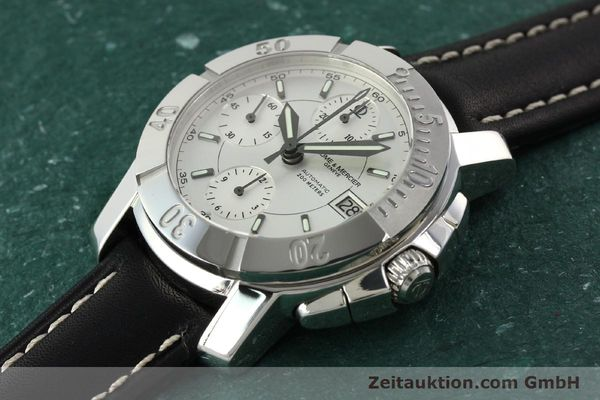 Used luxury watch Baume & Mercier Capeland chronograph steel automatic Kal. BM 13750 ETA 7750 Ref. 65352  | 142021 01