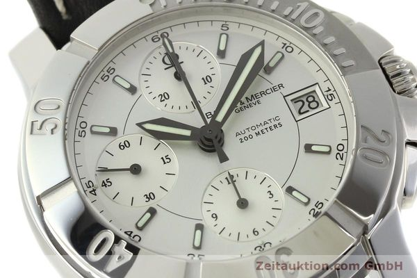 Used luxury watch Baume & Mercier Capeland chronograph steel automatic Kal. BM 13750 ETA 7750 Ref. 65352  | 142021 02
