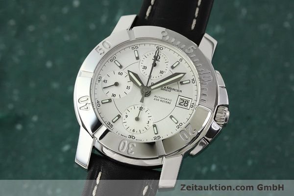 Used luxury watch Baume & Mercier Capeland chronograph steel automatic Kal. BM 13750 ETA 7750 Ref. 65352  | 142021 04