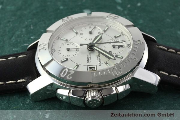 Used luxury watch Baume & Mercier Capeland chronograph steel automatic Kal. BM 13750 ETA 7750 Ref. 65352  | 142021 05