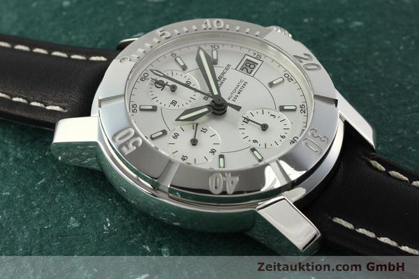 Used luxury watch Baume & Mercier Capeland chronograph steel automatic Kal. BM 13750 ETA 7750 Ref. 65352  | 142021 14