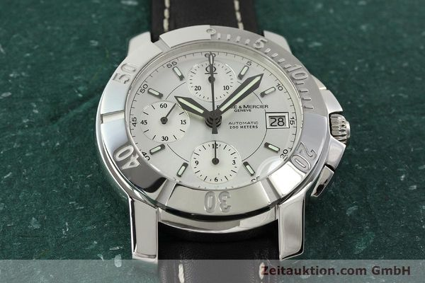 Used luxury watch Baume & Mercier Capeland chronograph steel automatic Kal. BM 13750 ETA 7750 Ref. 65352  | 142021 15