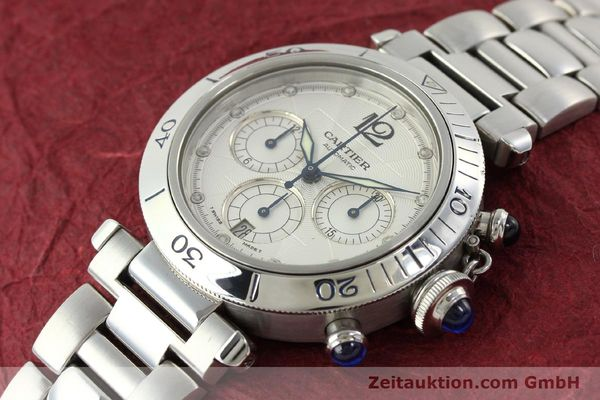 Used luxury watch Cartier Pasha chronograph steel automatic Kal. 205  | 142026 01