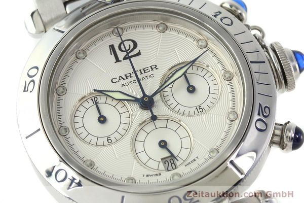 Used luxury watch Cartier Pasha chronograph steel automatic Kal. 205  | 142026 02