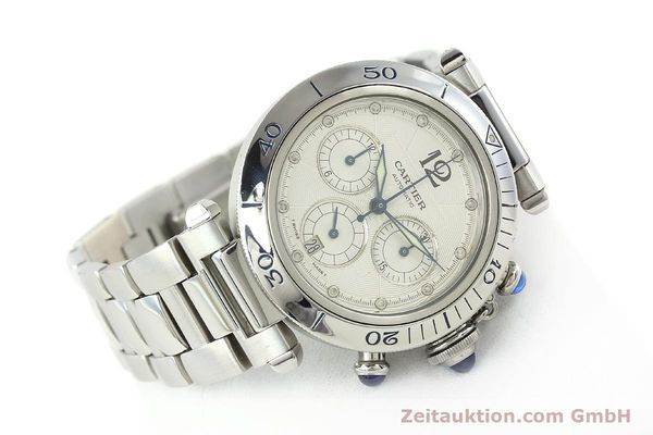 Used luxury watch Cartier Pasha chronograph steel automatic Kal. 205  | 142026 03