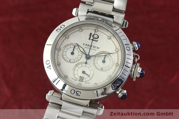Used luxury watch Cartier Pasha chronograph steel automatic Kal. 205  | 142026 04