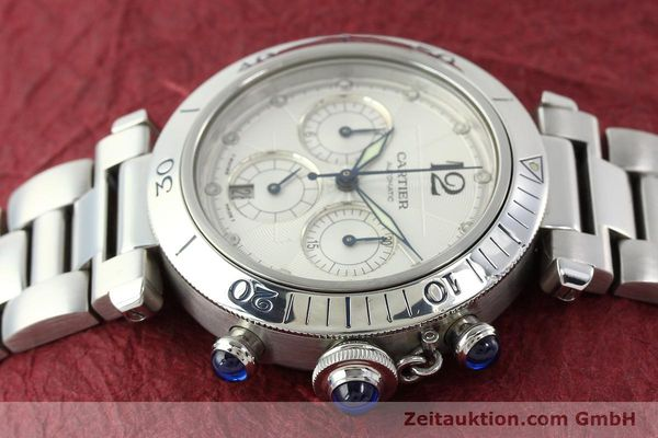Used luxury watch Cartier Pasha chronograph steel automatic Kal. 205  | 142026 05