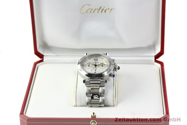 Used luxury watch Cartier Pasha chronograph steel automatic Kal. 205  | 142026 07