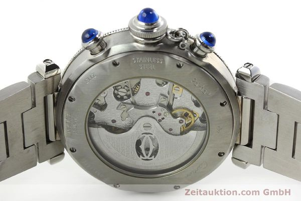 Used luxury watch Cartier Pasha chronograph steel automatic Kal. 205  | 142026 09