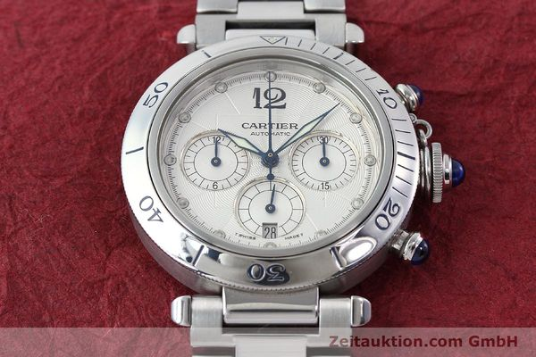 Used luxury watch Cartier Pasha chronograph steel automatic Kal. 205  | 142026 15