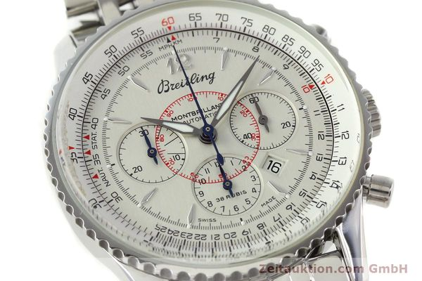 Used luxury watch Breitling Montbrillant chronograph steel automatic Kal. B41 ETA 2892-2 Ref. A41330  | 142027 02