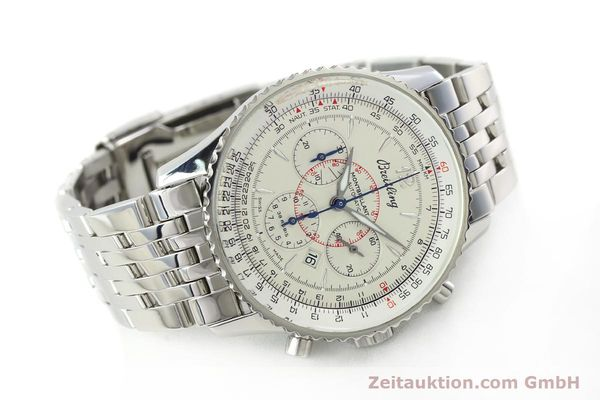Used luxury watch Breitling Montbrillant chronograph steel automatic Kal. B41 ETA 2892-2 Ref. A41330  | 142027 03