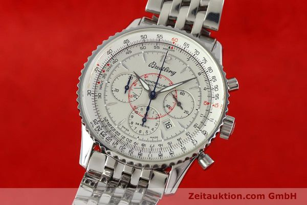 Used luxury watch Breitling Montbrillant chronograph steel automatic Kal. B41 ETA 2892-2 Ref. A41330  | 142027 04