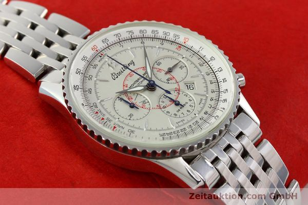 Used luxury watch Breitling Montbrillant chronograph steel automatic Kal. B41 ETA 2892-2 Ref. A41330  | 142027 14