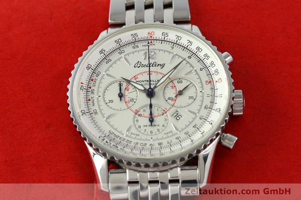 Used luxury watch Breitling Montbrillant chronograph steel automatic Kal. B41 ETA 2892-2 Ref. A41330  | 142027 15