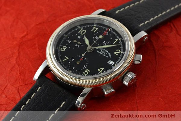 Used luxury watch Mühle Chronograph II chronograph steel / gold automatic Kal. ETA 7750 Ref. M13150  | 142029 01
