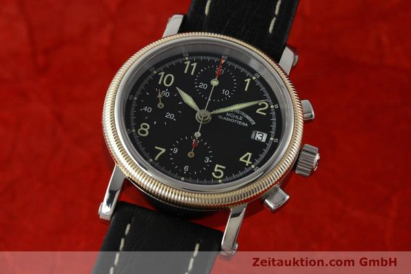 Used luxury watch Mühle Chronograph II chronograph steel / gold automatic Kal. ETA 7750 Ref. M13150  | 142029 04