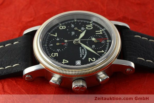 Used luxury watch Mühle Chronograph II chronograph steel / gold automatic Kal. ETA 7750 Ref. M13150  | 142029 05