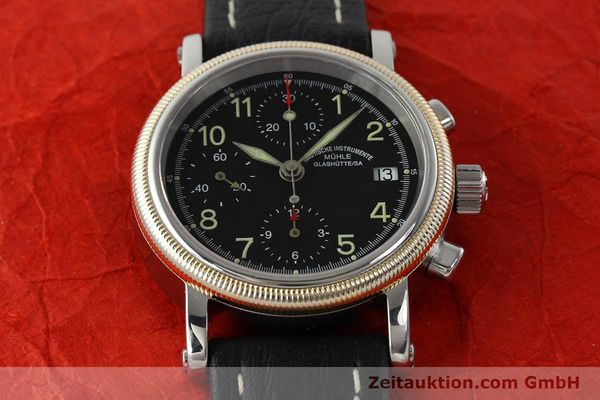 Used luxury watch Mühle Chronograph II chronograph steel / gold automatic Kal. ETA 7750 Ref. M13150  | 142029 15