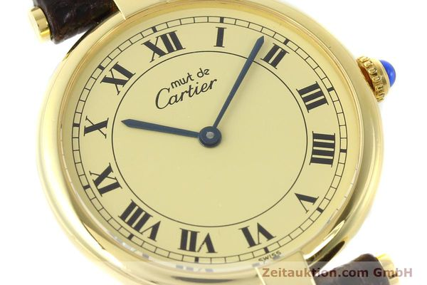 Used luxury watch Cartier Vermeil silver-gilt quartz Kal. 90.06  | 142038 02