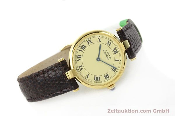 Used luxury watch Cartier Vermeil silver-gilt quartz Kal. 90.06  | 142038 03