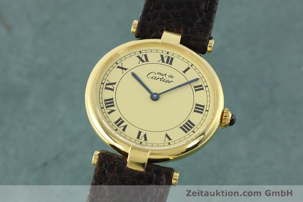 Used luxury watch Cartier Vermeil silver-gilt quartz Kal. 90.06  | 142038 04