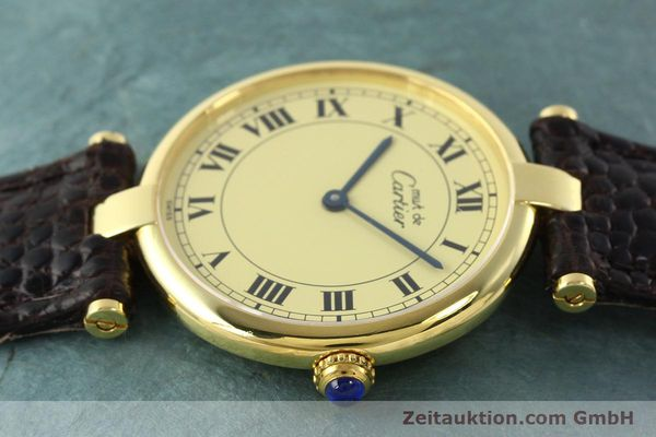 Used luxury watch Cartier Vermeil silver-gilt quartz Kal. 90.06  | 142038 05