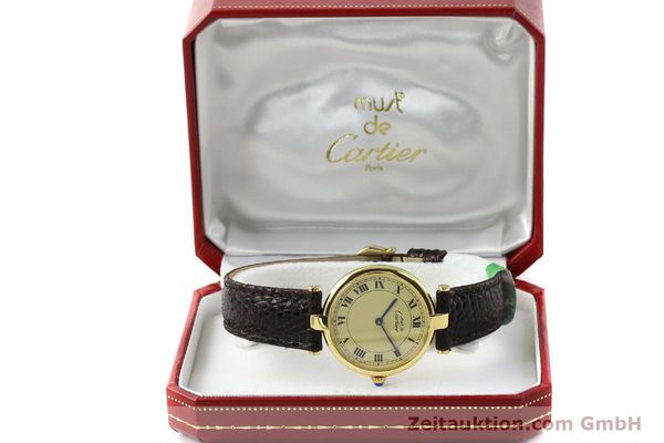 Used luxury watch Cartier Vermeil silver-gilt quartz Kal. 90.06  | 142038 07