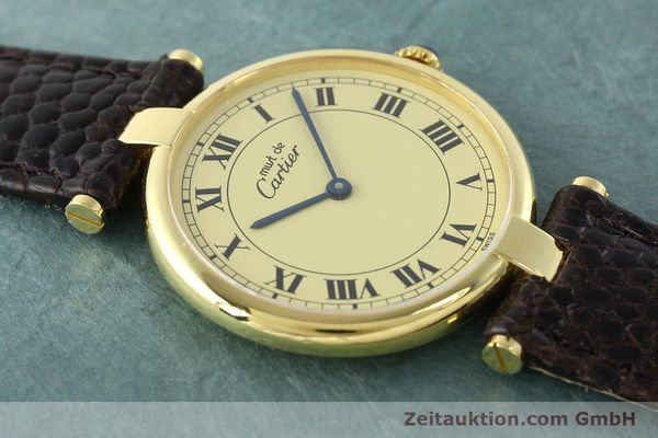 Used luxury watch Cartier Vermeil silver-gilt quartz Kal. 90.06  | 142038 14