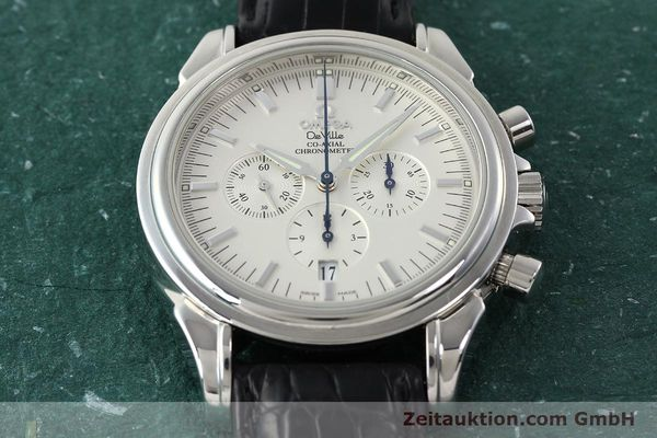 Used luxury watch Omega De Ville chronograph steel automatic Kal. 3313B Ref. 48413132  | 142039 17