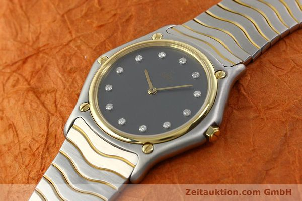 Used luxury watch Ebel Classic Wave steel / gold quartz Kal. 81 Ref. 181909  | 142041 01
