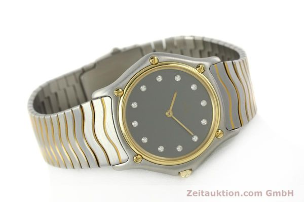 Used luxury watch Ebel Classic Wave steel / gold quartz Kal. 81 Ref. 181909  | 142041 03