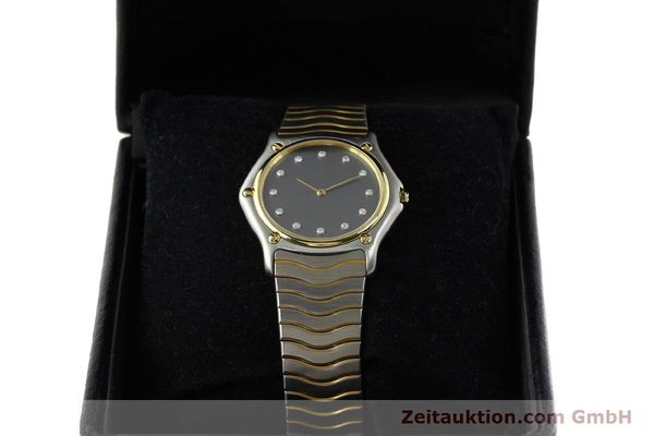 Used luxury watch Ebel Classic Wave steel / gold quartz Kal. 81 Ref. 181909  | 142041 07