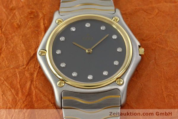 Used luxury watch Ebel Classic Wave steel / gold quartz Kal. 81 Ref. 181909  | 142041 13
