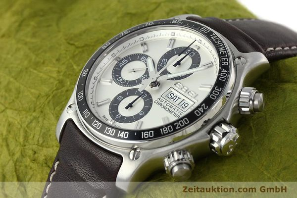 Used luxury watch Ebel 1911 chronograph steel automatic Kal. ETA 7750 Ref. E9750L62  | 142043 01