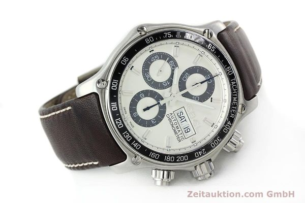 Used luxury watch Ebel 1911 chronograph steel automatic Kal. ETA 7750 Ref. E9750L62  | 142043 03