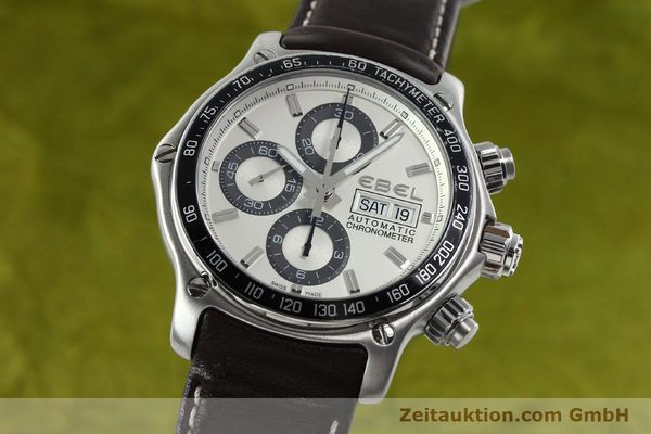 Used luxury watch Ebel 1911 chronograph steel automatic Kal. ETA 7750 Ref. E9750L62  | 142043 04
